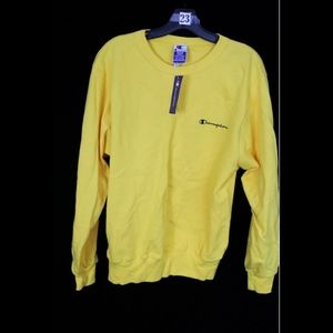 Champion Shirts - VTG 1998 Champion Spell Out Crewneck Sweatshirt Sw